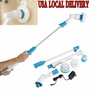 Electric-Spin-Scrubber-Cordless-Chargeable-Handheld-w-3-Replacement-Brush-Heads