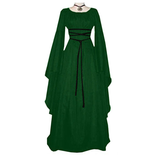 Details about  /Women/'s Cosplay Witch Fancy Party Gown Costume Dresses Blouse Robe Renaissance