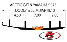 "New Yamaha Arctic Cat Snowmobile Woodys Ski Carbide Runner Wearbar Skag Dooly 6"""