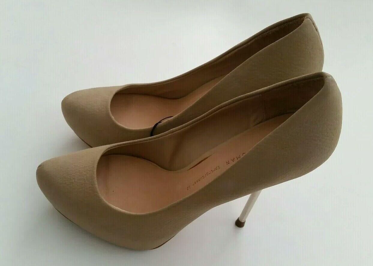 dd78d4f7f8c Zara womens court shoes size 4 37 ladies pumps shoes platform ...