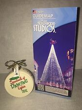 Disney Osborne Spectacle Dancing Lights Christmas Ornament + Park Map 2015