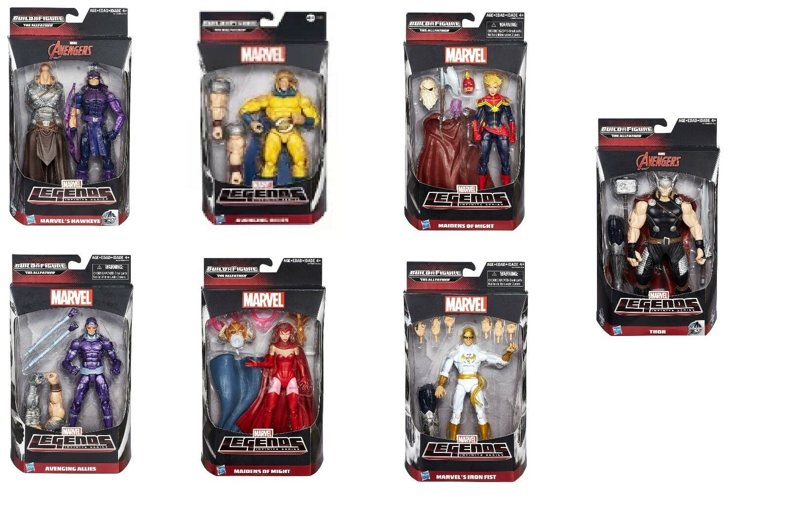 Completo Set Of 7 Marvel Leggende Serie Infinite 15.2cm Personaggi da Hasbro,