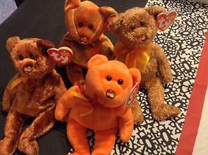 New Ty MasterCard exclusive beanie bears 4 styles free shipping stocking stuffer