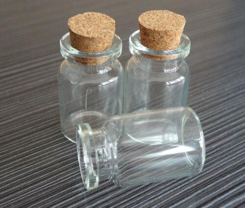 Al por mayor 100Pcs Viales Botellas Vacías Botellas de Vidrio Transparente de 7 Ml Con Corchos