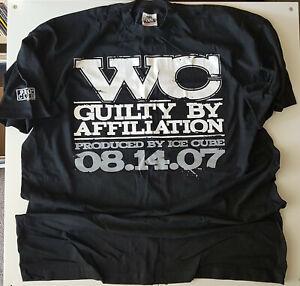 WC-GUILTY-BY-AFFILIATION-PROMO-T-SHIRT-XXXL-BLACK-RARE-07-LENCH-MOB-HIP-HOP-TEE