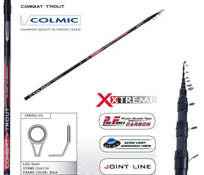 Canna Teleregolabile Colmic Combat 6-7-8 m Combat Trout Pesca Torrente    FEU