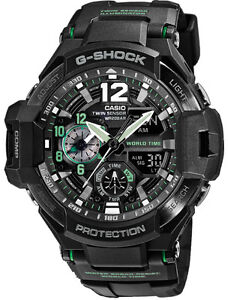 Casio-G-Shock-Mens-Wrist-Watch-GA1100-1A3-GA1100-1A3CR-Gravitymaster-Twin-Sensor