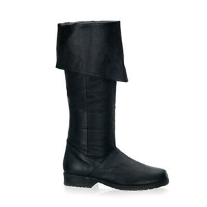Funtasma MAVERICK-8812 Men's Black Pirate RenaissancE Costume Medieval Knee Boot