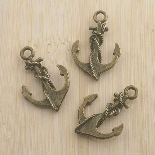 32pcs gold tone anchor charms for bracelet Diy making EF2427
