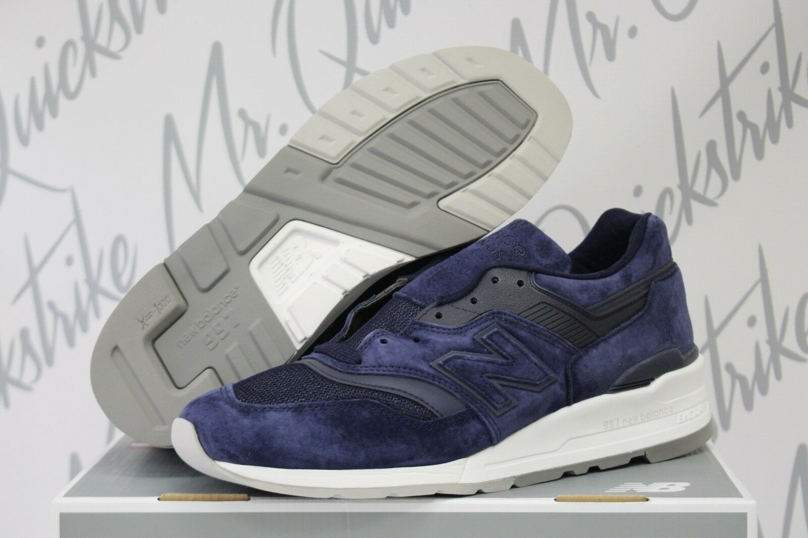 New balance 997 sz 8 made in usa navy blau - graue, weiße m997co