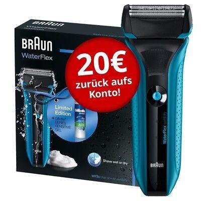 Braun Waterflex Elektrorasierer WF2s Limitierte Edition mit Gillette Rasiergel