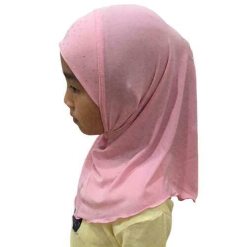 50cm Kinder Mädchen Islamischer Muslim Hijab Schal Strass Osten Beste Mittl Y0E9