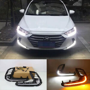 Details About Led Light Guide Daytime Running Front Per Drl For Hyundai Elantra 2017