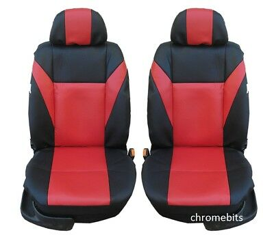 Red Eco-Leather Universal Front Seat Covers 1+1 for FIAT DOBLO