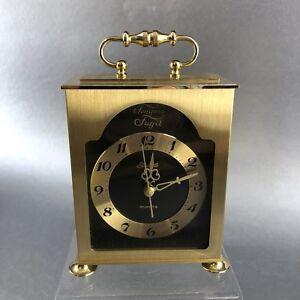 Details about Forestville Tempus Fugit Brass Mid Century Modern Desk Clock  Vintage Battery