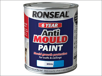 Ronseal Anti Mould Paint White Silk 750ml