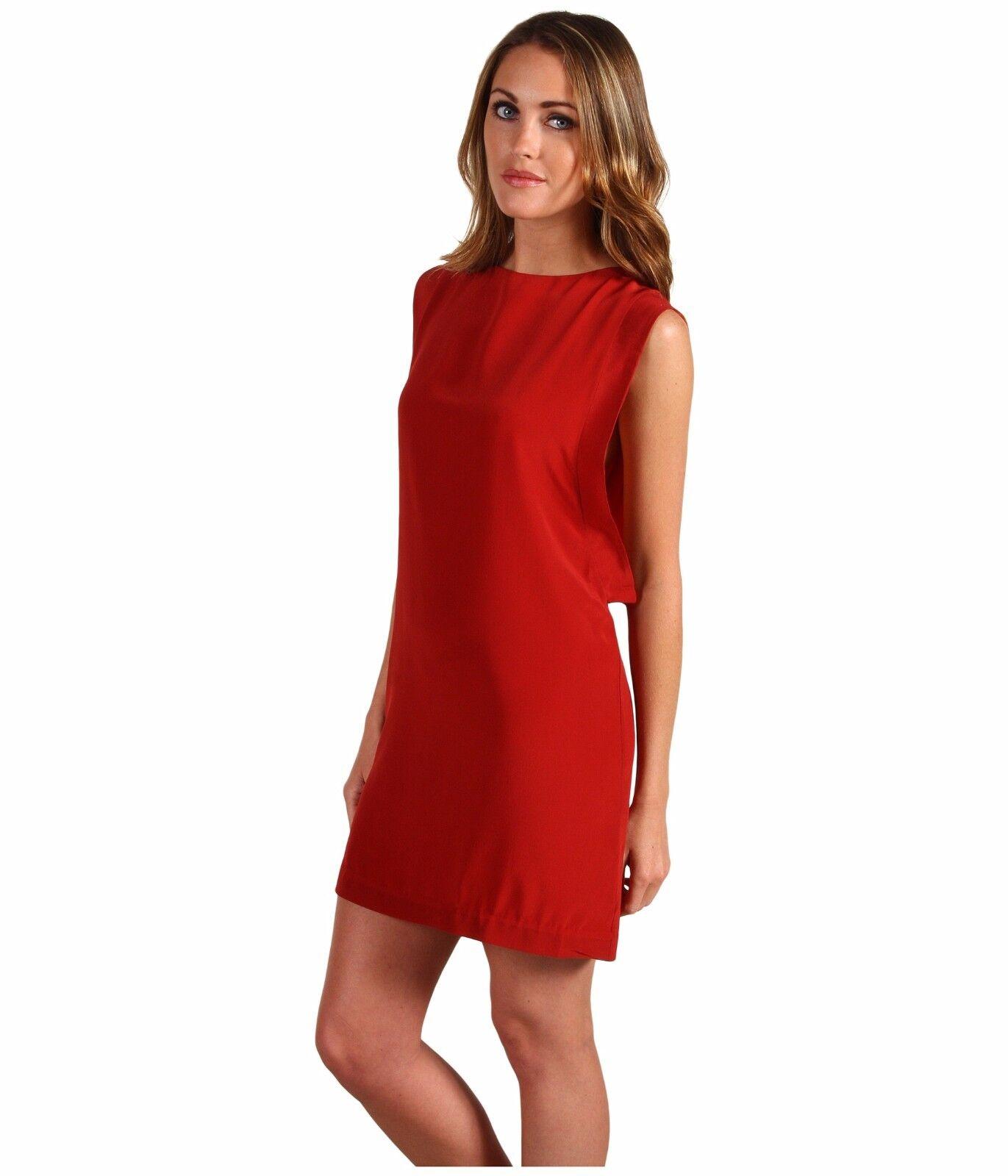 L.A.M.B. Size 6 Silk Tunic Paprika orange Dress