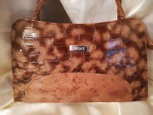 sac-a-main-femme-cuir-marron-marque-034-VERSACE-034-Paris-top-qualite-mat-et-vernis