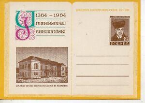 Polonia-Universidad-Jaguelonica-Entero-Postal-del-ano-1964-DJ-45