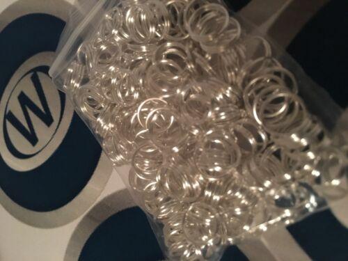10 x 8mm SILVER Split Rings for Charm Sweetie Sweety Bracelet UK