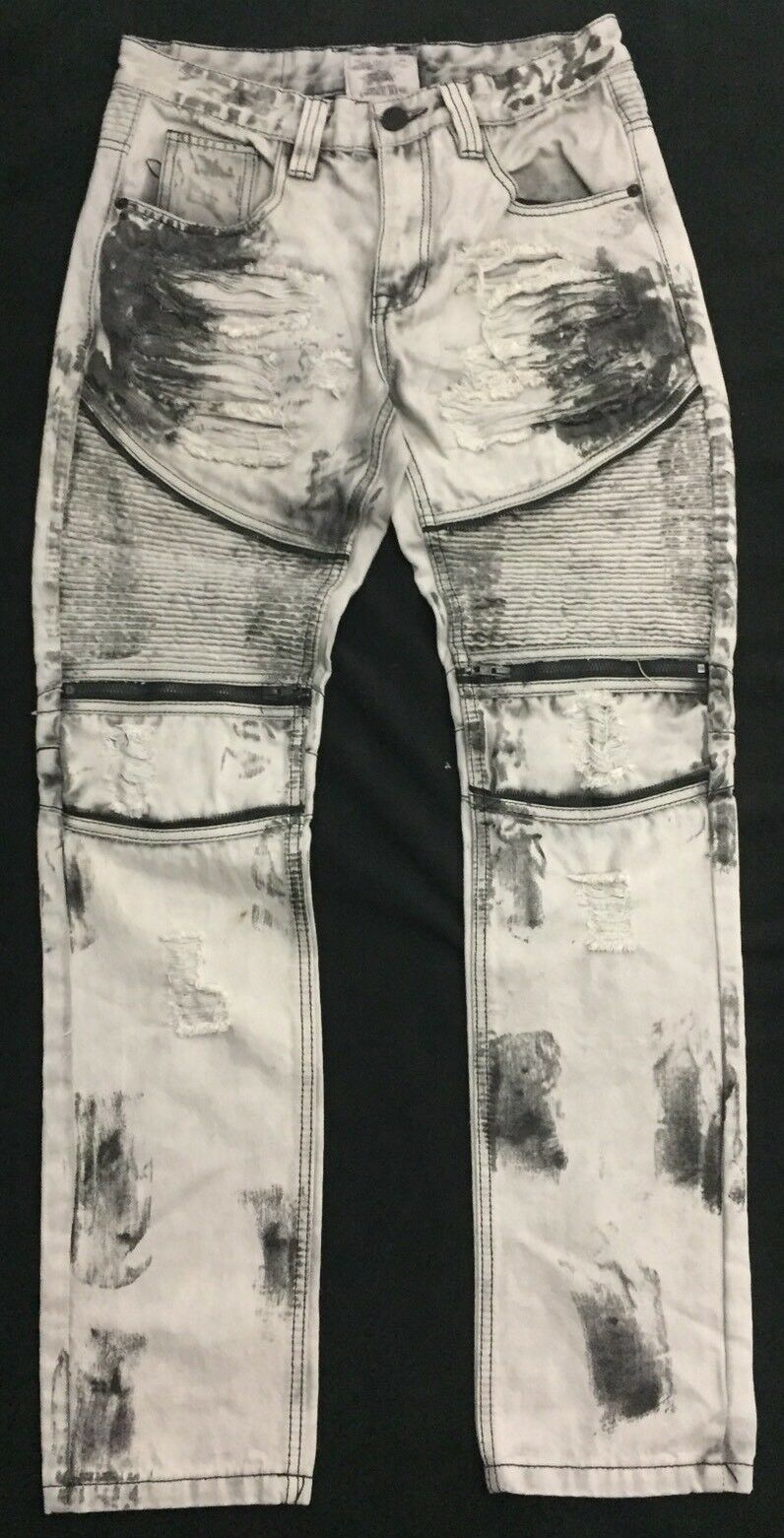 Men Smoke Rise Jeans - Size 32 32 - Paint Splattered