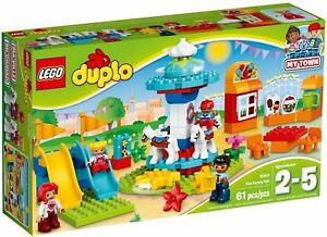 Lego 10841 Duplo Voyage Au Parc D'attractions Construction De Ma Ville Nouvel Emballage 61 Pièces