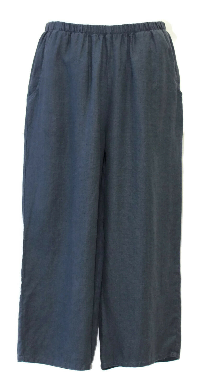 Flax Designs Floods NWT Linen Wide Leg Pants Slate Größe Small