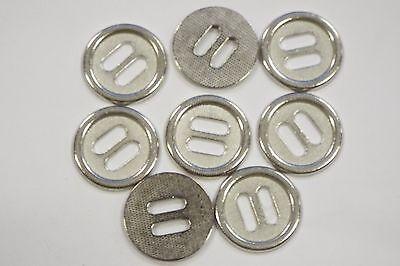 8pc 17mm Brillo Plata Metal Chaqueta Abrigo Cardigan De Punto Botón 3543 Descuento General De Venta 50-70%