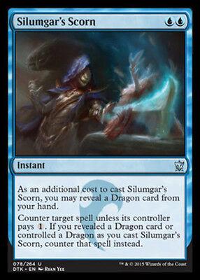 x4 Silumgar/'s Scorn English -BFG- MTG Magic Dragons of Tarkir Near Mint 4x