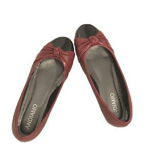 Andiamo Red Black Flats Size 10 Wide WW