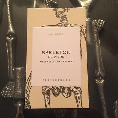 New In Box Pottery Barn Halloween Skeleton Salad
