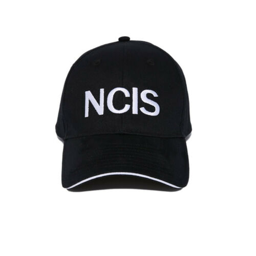 NCIS Embroidered Sandwich Peak Baseball Cap Retro Crime Police Cap Hat Black