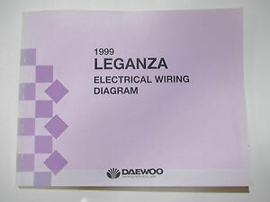 Details about 1999 Daewoo Leganza Electrical Wiring Diagram Service on