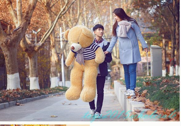 GIANT HUGE SOFT Sweaters STUFFED BIG PLUSH valentine  TEDDY BEAR dull gift 55''