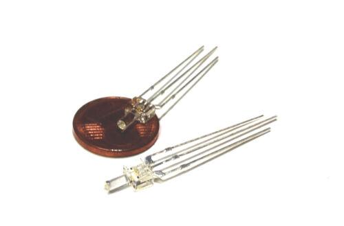 kein Vorwiderstand nötig 18 Stück Aktionsangebot LED 2mm warmweiß//rot  4-19V