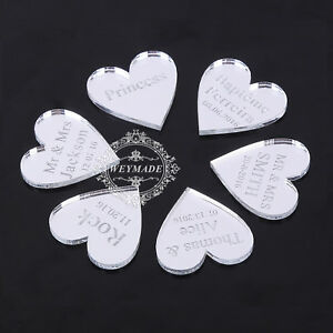 100-Personnalise-Grave-Mr-amp-Mrs-Table-De-Mariage-Decorations-Decoration-Faveurs