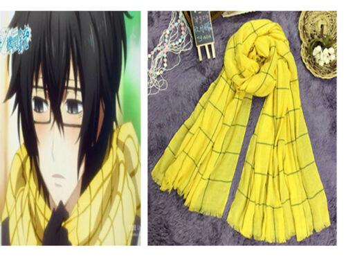 Anime Aoharu x Kikanjuu Yukimura Tooru Cosplay Daily Yellow Warm Scarf Muffler
