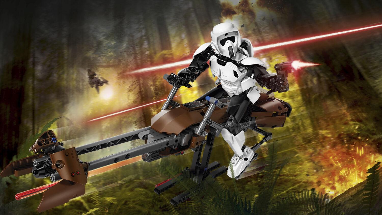 LEGO 75532 Star Wars Scout Trooper & & & Speeder Bike N6 17 765685
