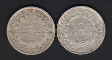 French Indo China. One Piastre : 1885-A (VF) & 1886-A (gVF) Both Trace Lustre