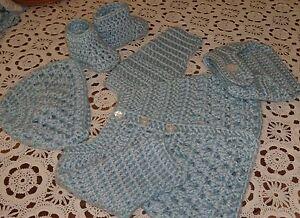 7c6d0278a Handmade Crochet Baby Boy Sweater