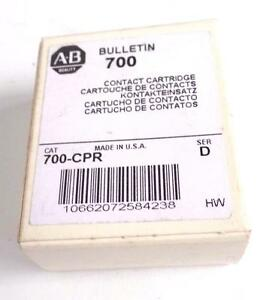 NEW ALLEN BRADLEY CONTACT CARTRIDGE 700-CPR 700CPR SERIES D QTY AVAILABLE