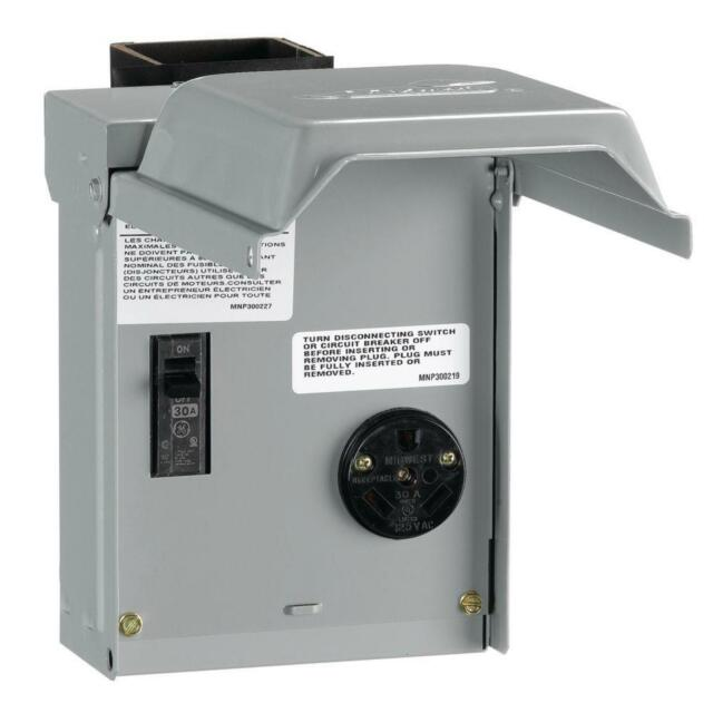 Rv Electrical Outlet >> Ge 30 Amp Temporary Rv Power Outlet W Breaker Electrical Outlet Rainproof