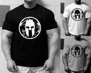 Image Is Loading Mens Spartan Race Logo T Shirt Gym Motivation