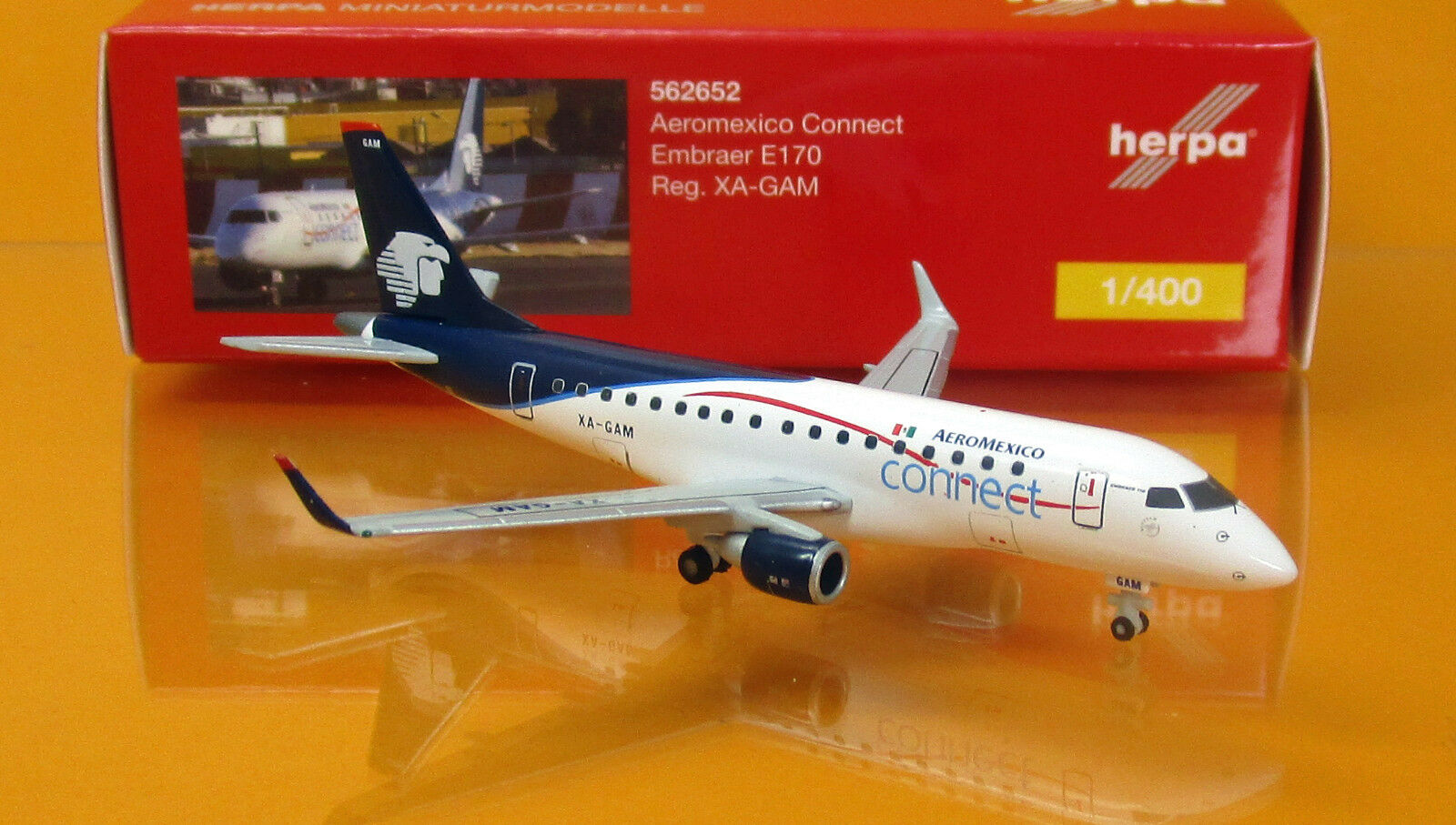 Herpa Wings 562652 Aeroméxico Connect Embraer E170 - XA-GAM Scale 1 400  | Erlesene Materialien