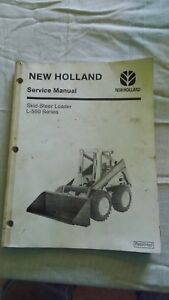 New-Holland-L550-Series-Skid-Steer-Loader-Service-Manual-Book-Ford