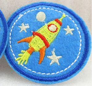 Astronaut Iron On Patch / Sew On Fancy Dress Costume Badge Spaceman Space Rocket