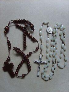 Lot-de-2-anciens-chapelets-rosaires-catholique-de-47-3-cm-et-35-cm-lot-B28