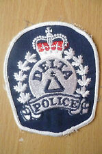 Patches: DELTA CANADA POLICE BRITISH COLUMBIA CANADA PATCH (NEW* apx.9.5x8.8 cm)