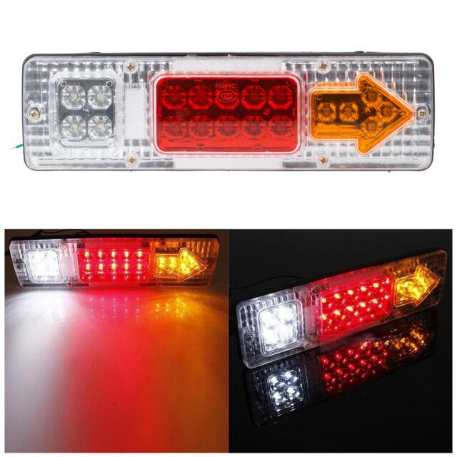 12V 19 LED Tail Light Car Trailer Caravan Truck Stop Reverse Indicator Lamp