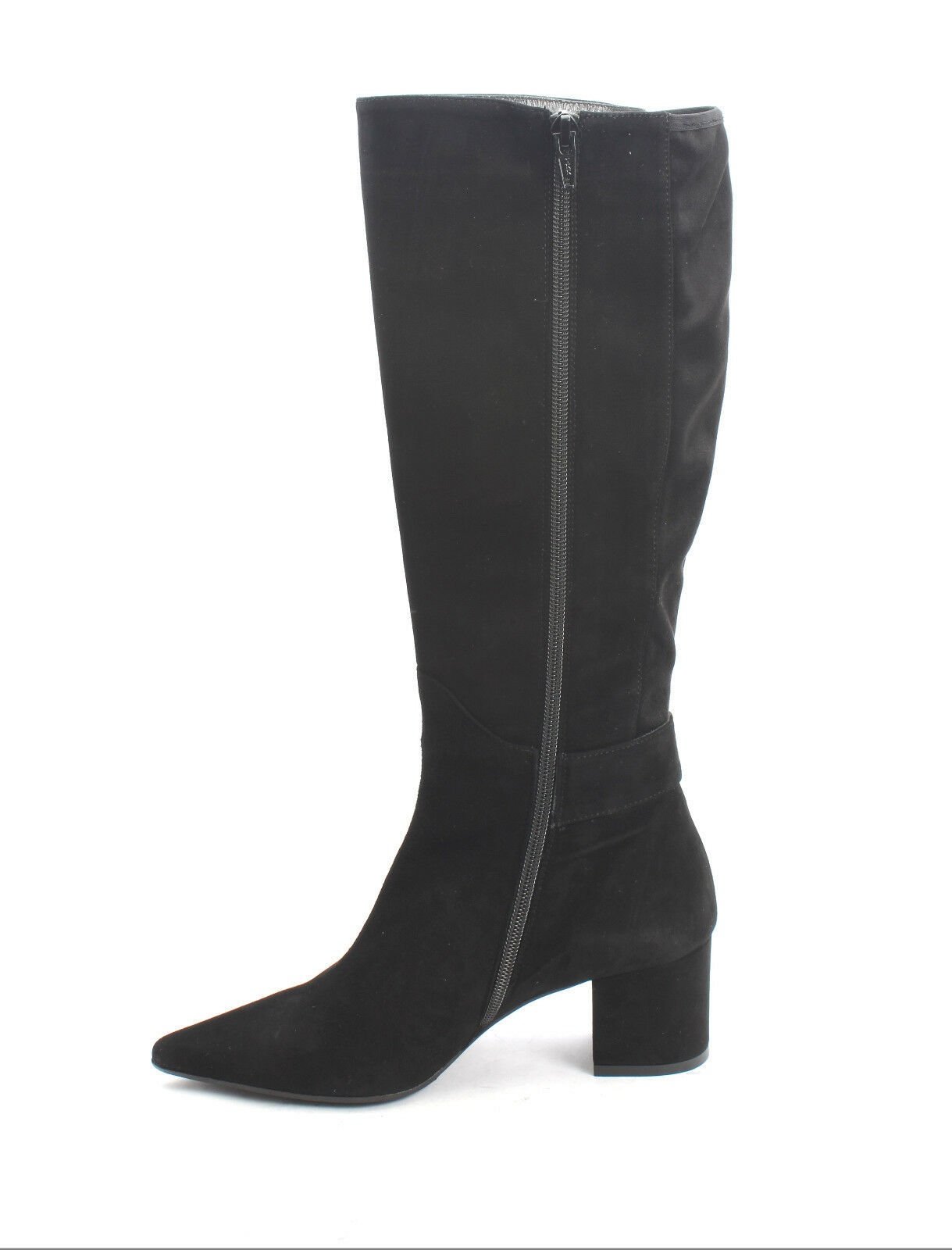 Isabelle 629 Black Suede     Stretch Suede Zip Pointy Knee High Boot 40   US 10 c0533e